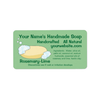 Customizable Handmade Soap Label Template