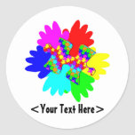 Customizable Hands And Puzzling Puzzle Piece Classic Round Sticker