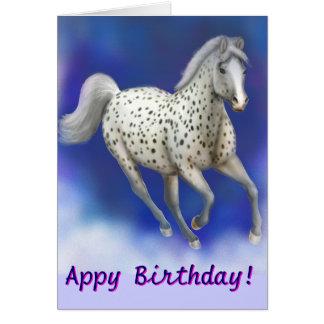 Customizable Happy Appy Birthday Appaloosa Card