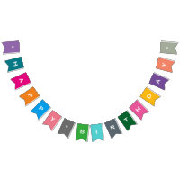 Customizable Happy Birthday Colorful Party Banner