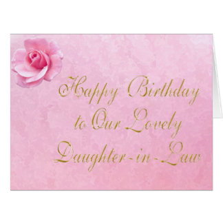Customizable Happy Birthday Daughter-in-Law Cards