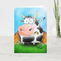 Customizable Happy Cow Happy Valentine's Day Card