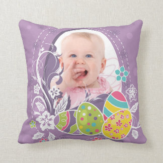 Customizable Happy Easter greeting Pillow