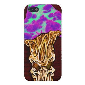 Customizable Happy Evil Mushroom Design Cover For iPhone 5