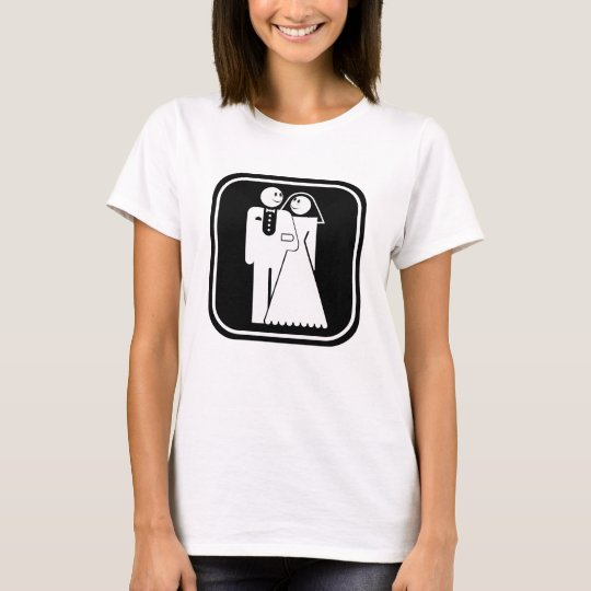 Customizable: Happy Happy Wedding (dark frame) T-Shirt