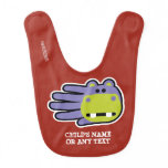 Hand shaped Customizable Happy Hungry Hippo Baby Bib