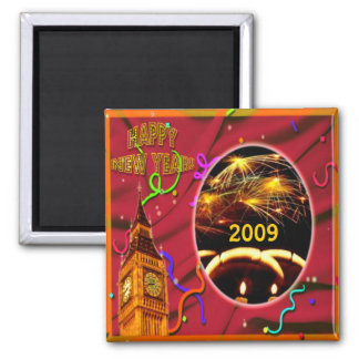 Customizable Happy New Year Magnet