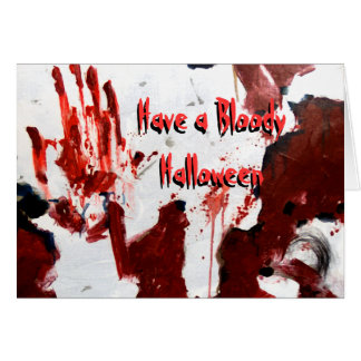 Customizable Have a Bloody Halloween Card Ginette