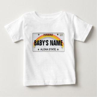 (Customizable) Hawaiian License Plate Baby T-Shirt