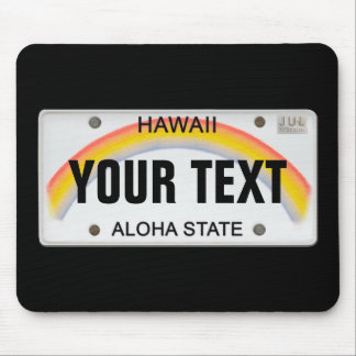 (Customizable) Hawaiian License Plate Mouse Pad