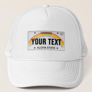 (Customizable) Hawaiian License Plate Trucker Hat