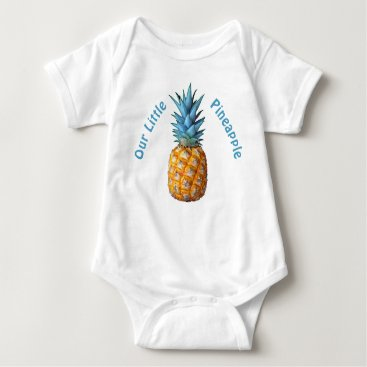 Toddler & Baby themed Customizable Hawaiian Pineapple Baby Clothes Baby Bodysuit