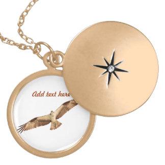 Customizable Hawk Locket Necklace