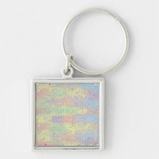 Customizable Hazy Color Splash key ring Keychain