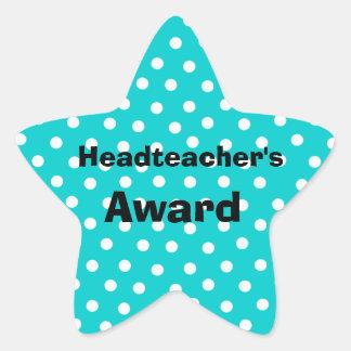 customizable headteacher's award stickers