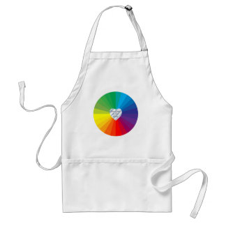 Customizable Heart Frame Spectrum Collection Aprons