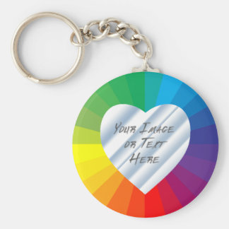 Customizable Heart Frame: Spectrum Collection Keychain