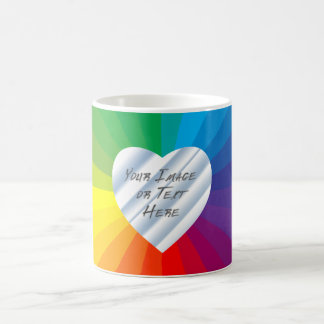 Customizable Heart Frame: Spectrum Collection Magic Mug