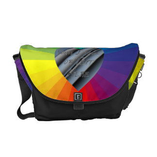 Customizable Heart Frame: Spectrum Collection Messenger Bag