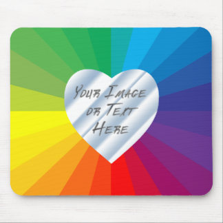 Customizable Heart Frame: Spectrum Collection Mouse Pad