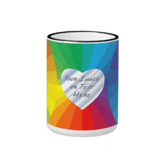 Customizable Heart Frame: Spectrum Collection Ringer Mug