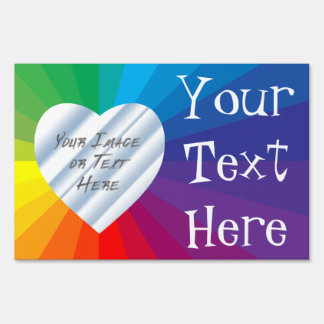 Customizable Heart Frame: Spectrum Collection Sign