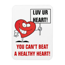 Customizable Heart Healthy Slogan Sign Magnet