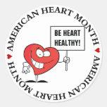 Customizable Heart Healthy Slogan Sign Stickers