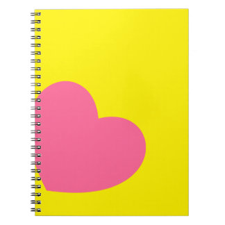 Customizable Heart Notebook For Teens.