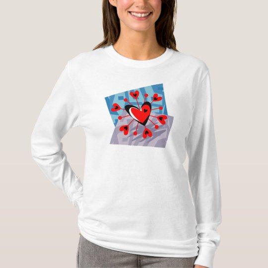 Customizable Heart Pinwheel Geometric T-Shirt