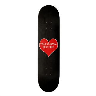 Customizable Heart Skateboard Deck