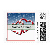 Customizable Hearts 2013 Christmas Stamps USPS