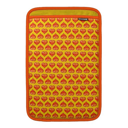 Customizable Hearts on Fire MacBook Sleeves