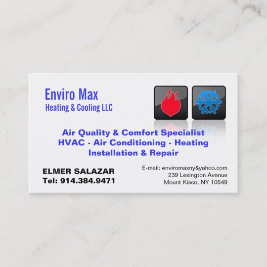 Customizable heating cooling bc business card zazzle customizable heating cooling bc business card reheart
