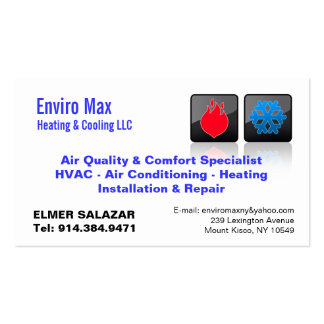 CUSTOMIZABLE Heating & Cooling BC Double-Sided Standard Business Cards (Pack Of 100)