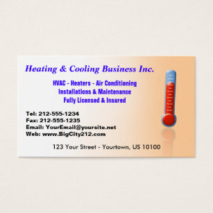 Hvac business cards templates zazzle customizable heating cooling thermo business card fbccfo Gallery