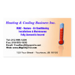 CUSTOMIZABLE Heating & Cooling Thermo Business Card Template