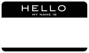 Customizable Hello My Name Is Tag Stickers