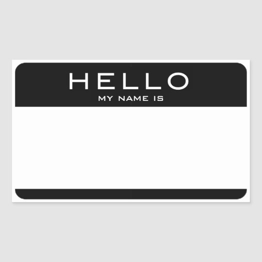 customizable hello my name is name tag stickers zazzle com