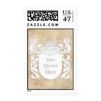 Customizable Heraldic Shield Postage