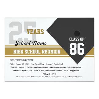 Customizable High School Class Reunion 5x7 Paper Invitation Card