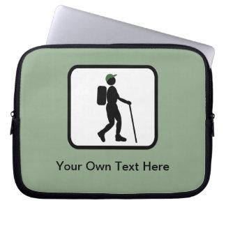 Customizable Hiker Logo Laptop Sleeves
