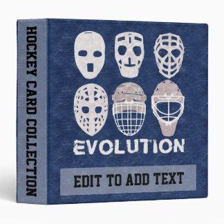 Customizable Hockey Goalie Masks Ring Binder Album