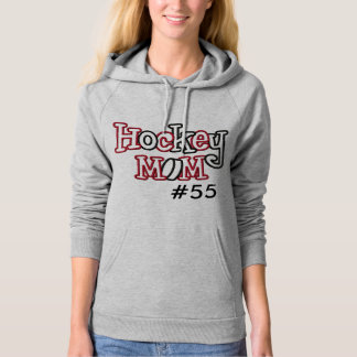 "CUSTOMIZABLE ""Hockey Mom"" WOMEN'S FLEECE HOODIE"