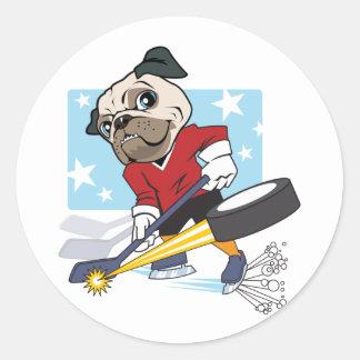 Customizable Hockey Pug Sticker