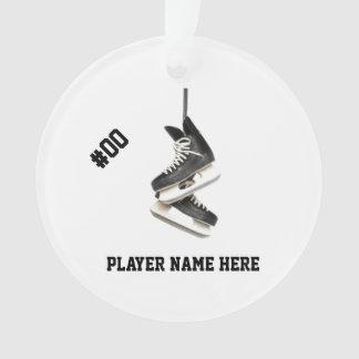 Customizable Hockey Skates Ornament