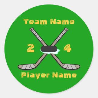 Customizable Hockey Stickers
