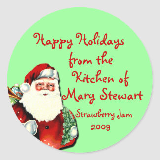 Customizable Holiday Canning Labels Classic Round Sticker