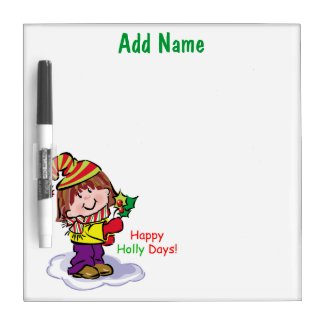 Customizable Holiday Dry Erase Board