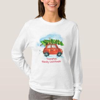 Customizable Holiday Family Christmas Tree T-Shirt